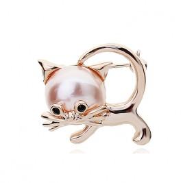 Брошка Коте перла
