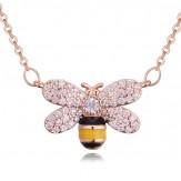 Колие Пчела розе голд