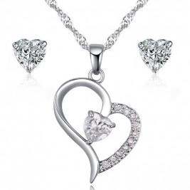 Комплект Бяло сърце