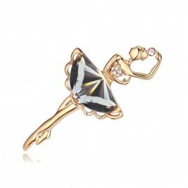 Брошка Балерина голд диамант