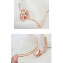 Колие Ема розе голд